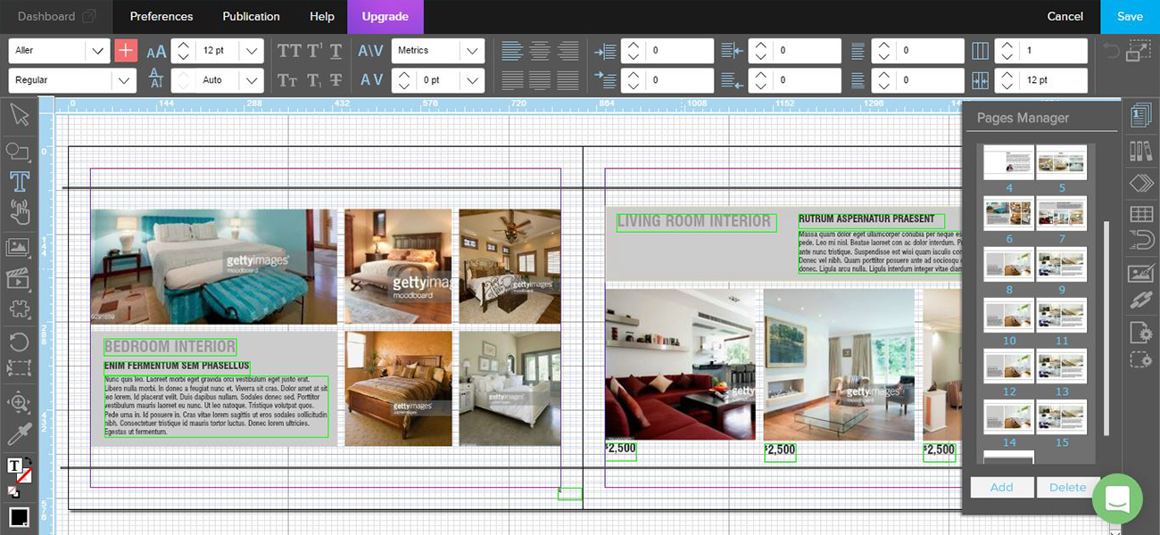 Captura de pantalla de Joomag, programa para maquetar revistas online