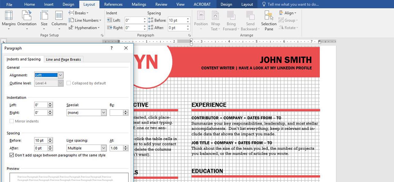 Captura de pantalla de Word: programa para maquetar al alcance de todos