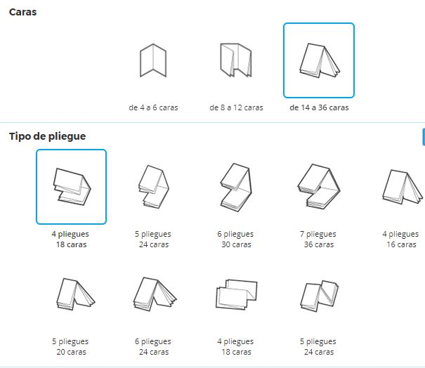 Interfaz para crear un Folleto online en Pixartprinting