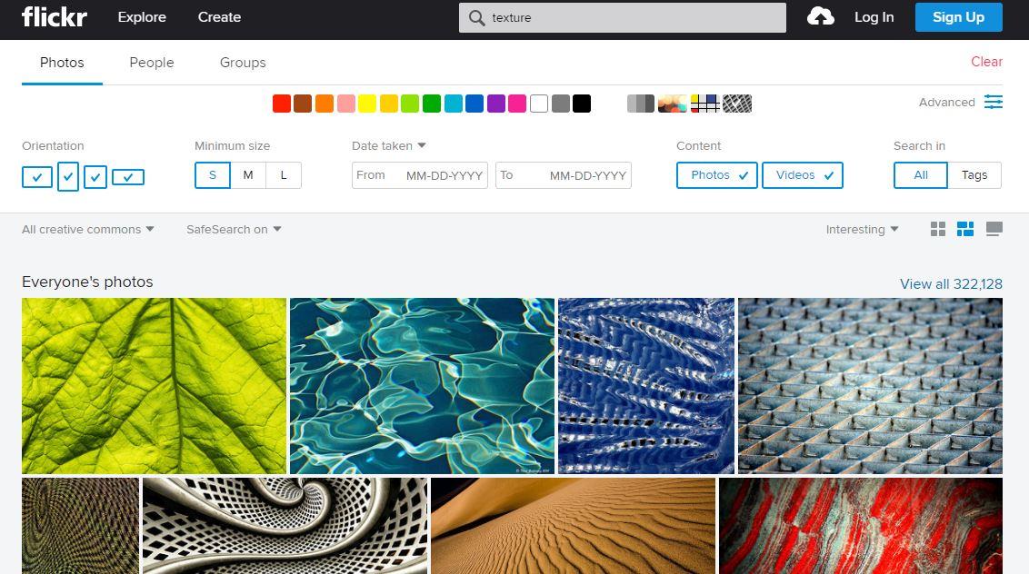 Máscara de búsqueda de fotos gratis en Flickr