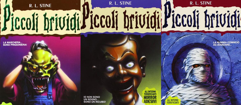 """Algunas portadas de """"Piccoli Brivides"""". Libros publicados por Mondadori en Italia."""