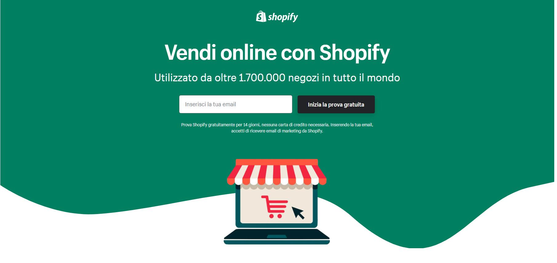 Shopify: crea páginas de venta online