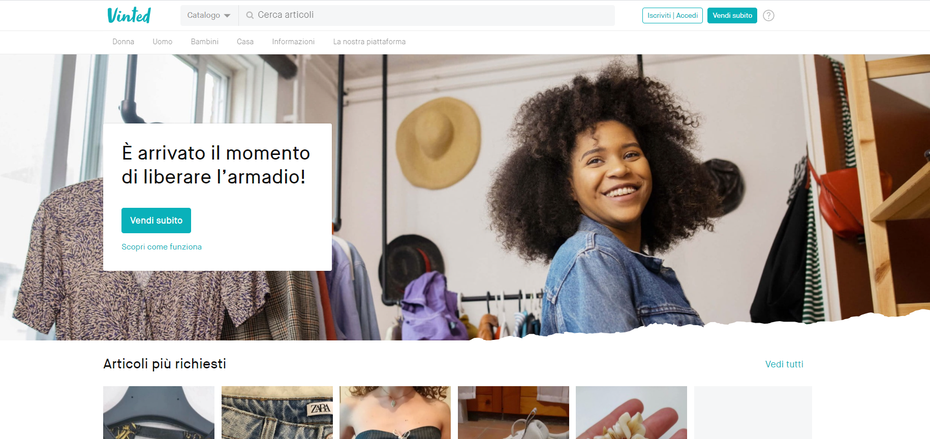 Vinted: a site for selling clothing online